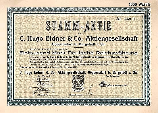 C. Hugo Eidner & Co. AG