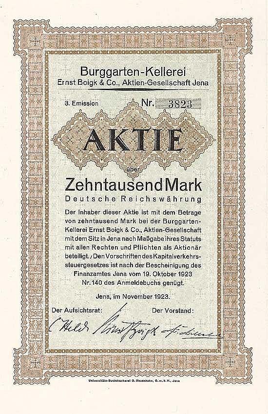 Burggarten-Kellerei Ernst Boigk & Co. AG