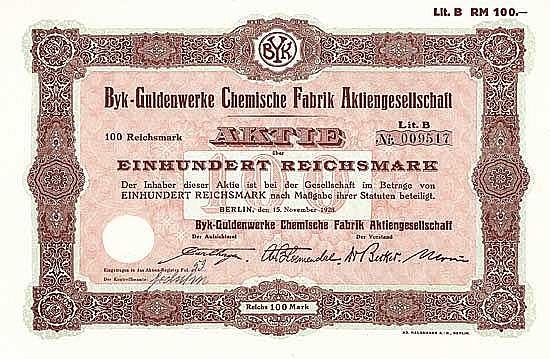 Byk-Guldenwerke Chemische Fabrik AG