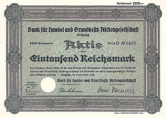 Bank für Handel und Grundbesitz AG
