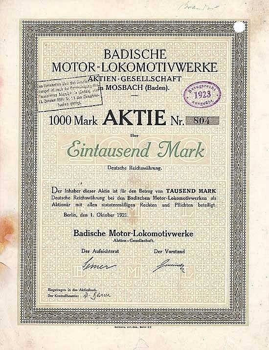 Badische Motor-Lokomotivwerke AG