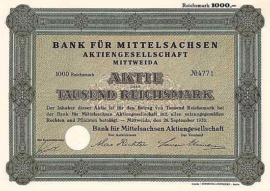 Bank für Mittelsachsen AG