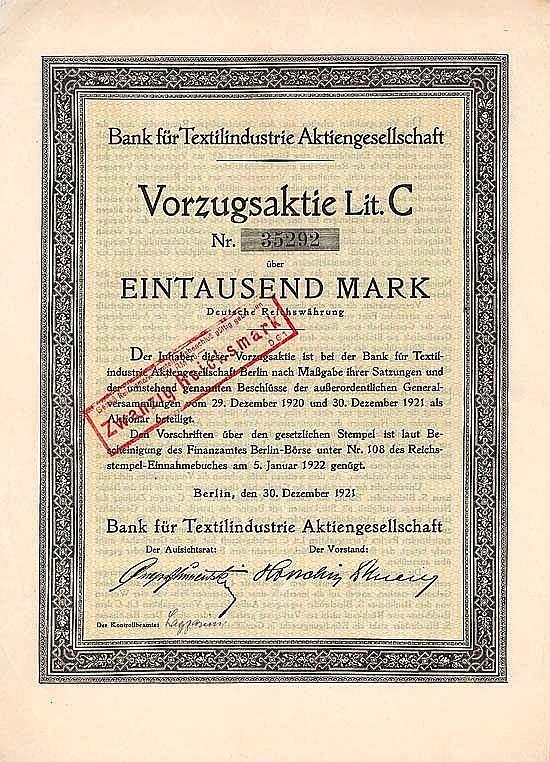 Bank für Textilindustrie AG