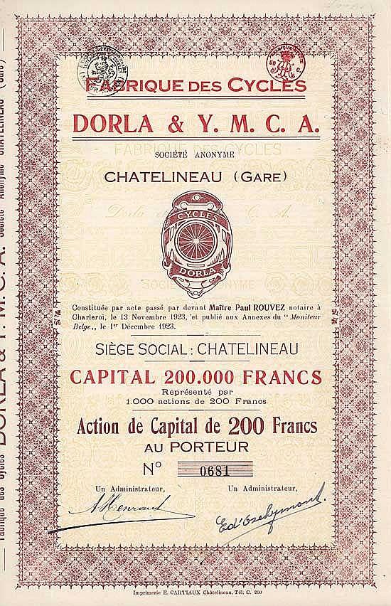 Fabrique des Cycles Dorla & Y.M.C.A. S.A.