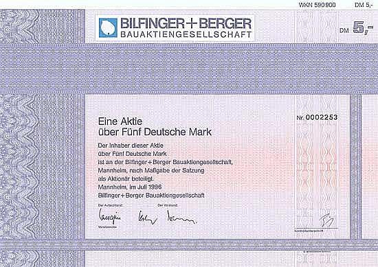 Bilfinger + Berger Bauaktiengesellschaft