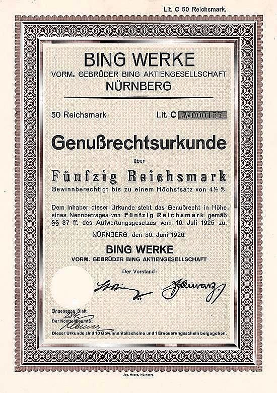 Bing Werke vorm. Gebrüder Bing AG