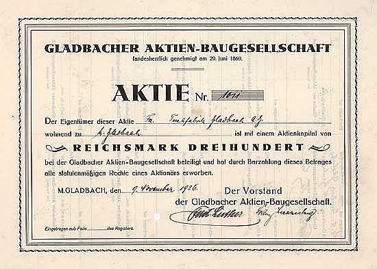 Gladbacher Aktien-Baugesellschaft