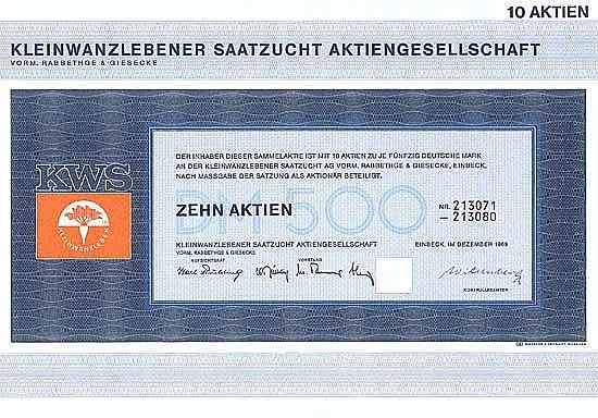 Kleinwanzlebener Saatzucht AG vorm. Rabbethge & Giesecke