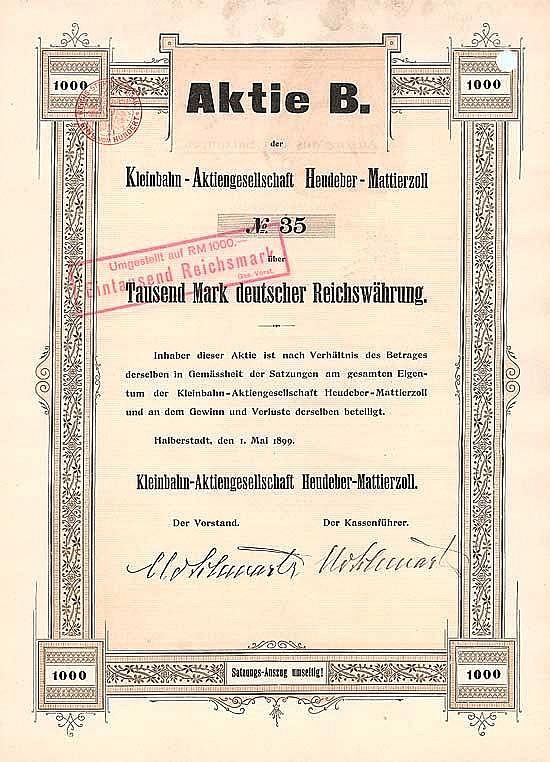 Kleinbahn-AG Heudeber-Mattierzoll