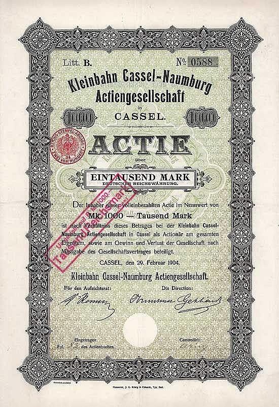 Kleinbahn Cassel-Naumburg AG