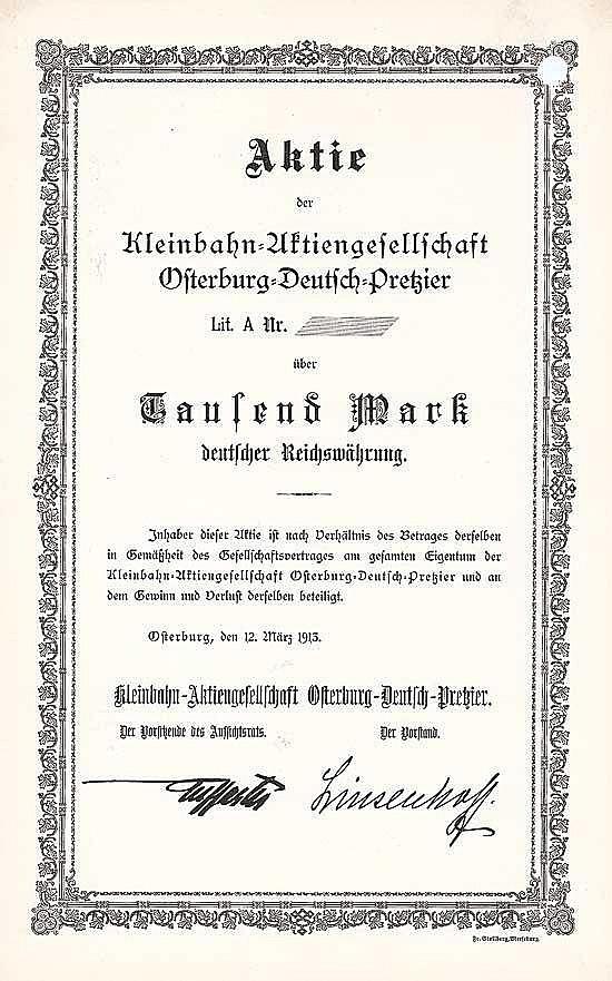Kleinbahn-AG Osterburg-Deutsch-Pretzier