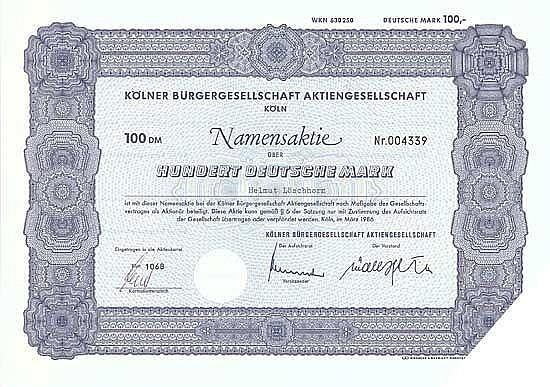 Kölner Bürgergesellschaft AG