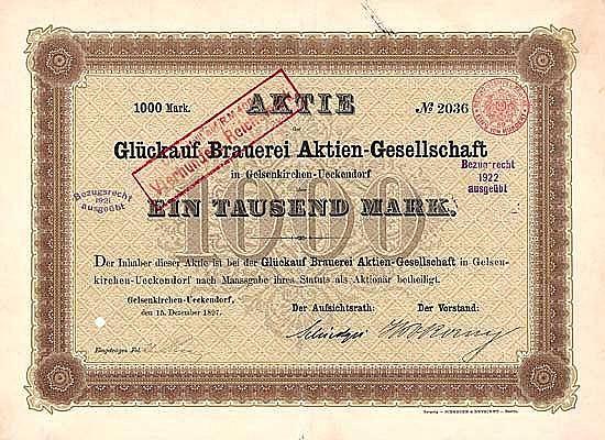 Glückauf Brauerei AG