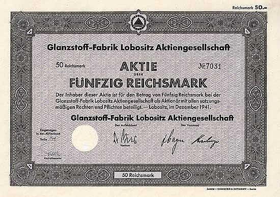 Glanzstoff-Fabrik Lobositz AG