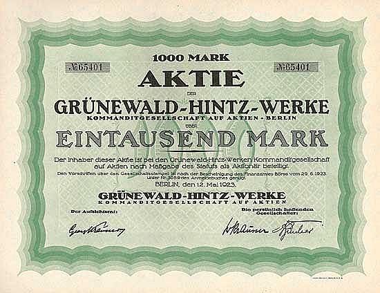 Grünewald-Hintz-Werke KGaA