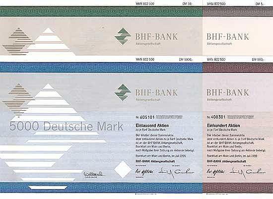 BHF-Bank AG (4 Stücke)