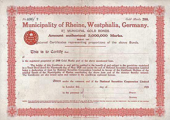 Municipality of Rheine, Westphalia