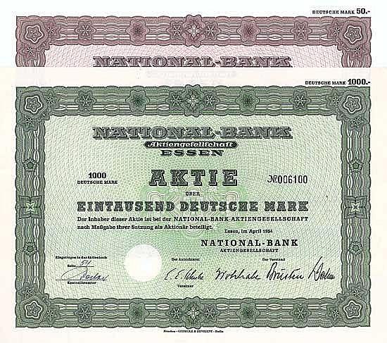 National-Bank AG (2 Stücke)