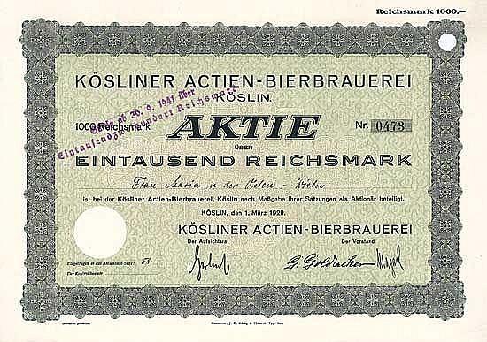 Kösliner Actien-Bierbrauerei