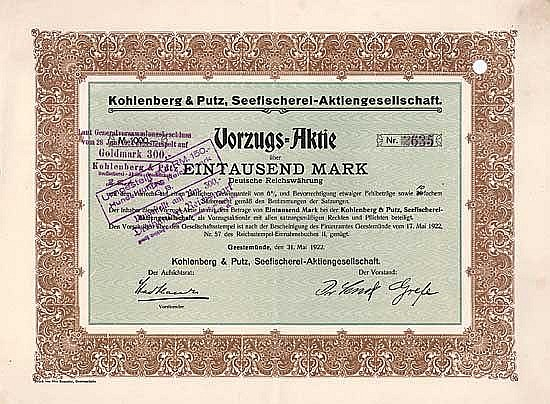 Kohlenberg & Putz Seefischerei AG