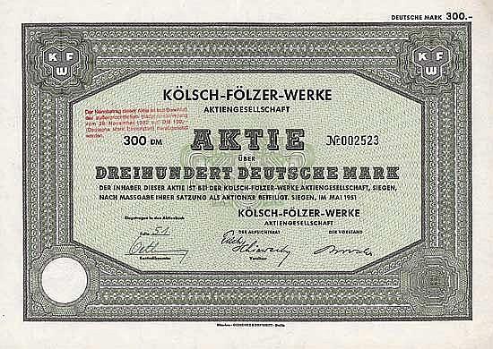 Kölsch-Fölzer-Werke AG