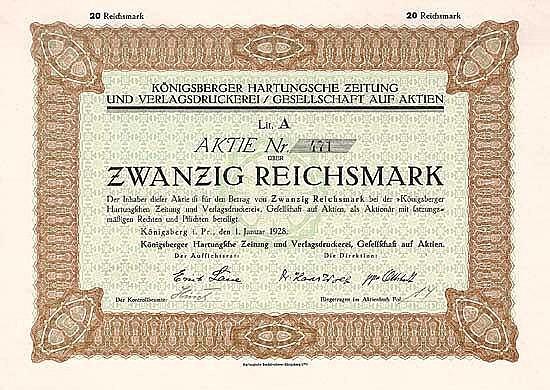 Königsberger Hartungsche Zeitung und Verlagsdruckerei