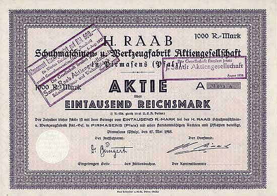 H. Raab Schuhmaschinen- und Werkzeugfabrik AG