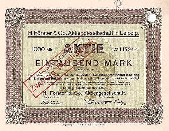 H. Förster & Co. AG