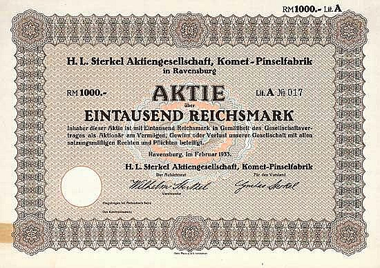 H. L. Sterkel AG Komet-Pinselfabrik