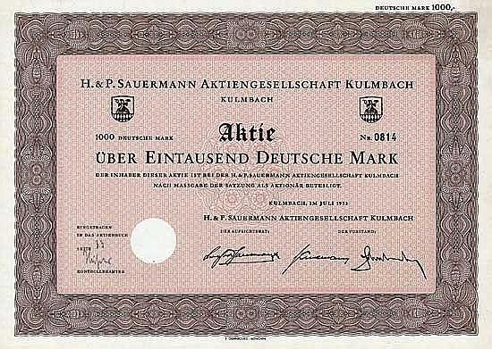 H. & P. Sauermann AG