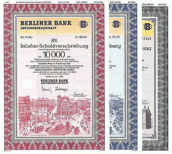 Berliner Bank AG (5 Stücke)