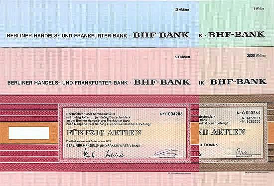 Berliner Handels- und Frankfurter Bank (4 Stücke)