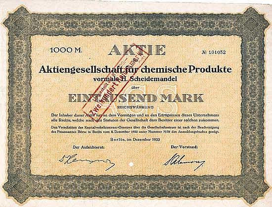 AG für chemische Produkte vormals H. Scheidemandel