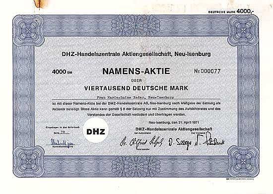 DHZ-Handelszentrale AG