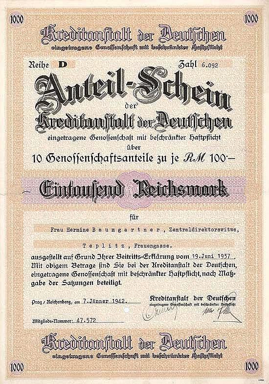 Kreditanstalt der Deutschen eGmbH