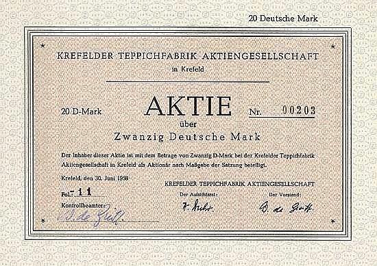 Krefelder Teppichfabrik AG