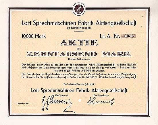 Lori Sprechmaschinen Fabrik AG