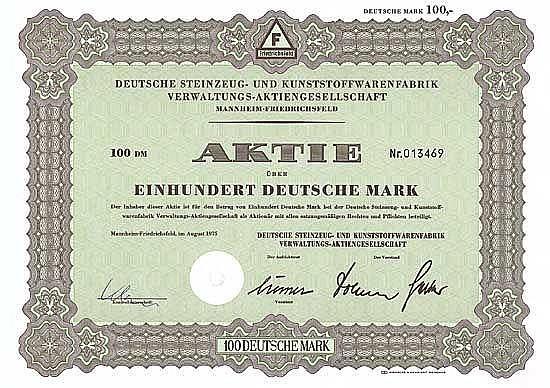 Deutsche Steinzeug- und Kunststoffwarenfabrik Verwaltungs-AG