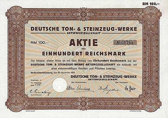 Deutsche Ton- & Steinzeug-Werke AG