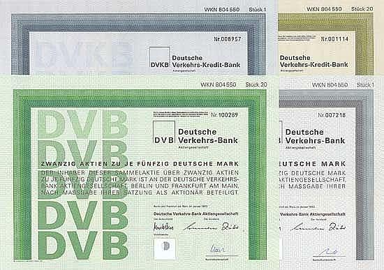 Deutsche Verkehrs-Kredit-Bank AG (4 Stücke)