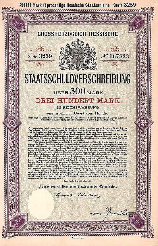 Grossherzogtum Hessen (Hessische Ludwigs-Eisenbahn)