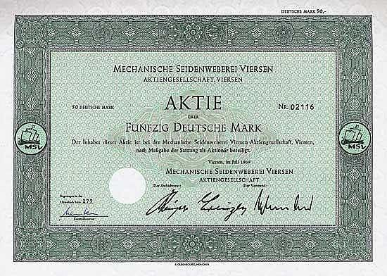 Mechanische Seidenweberei Viersen AG