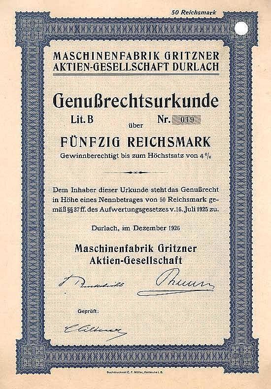 Maschinenfabrik Gritzner AG
