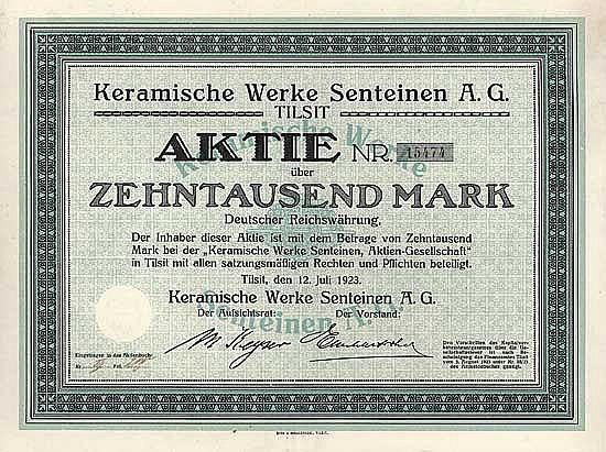 Keramische Werke Senteinen AG