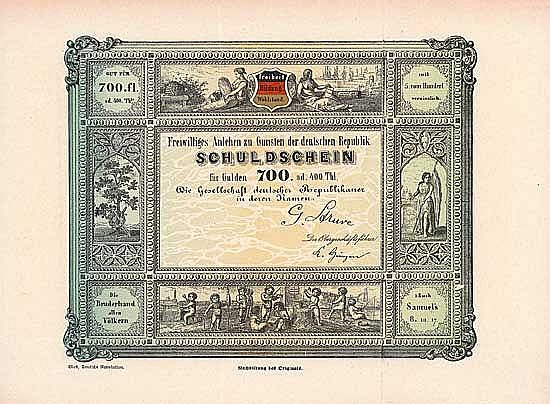 Gesellschaft deutscher Republikaner (Freiwilliges Anlehen zu Gunsten der deutschen Republik)