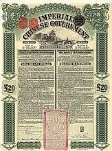 Imperial Chinese Government Gold Loan von 1908