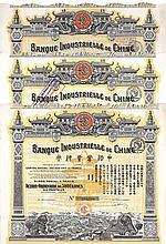 Banque Industrielle de Chine S.A. (3 Stücke)