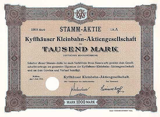 Kyffhäuser Kleinbahn-AG