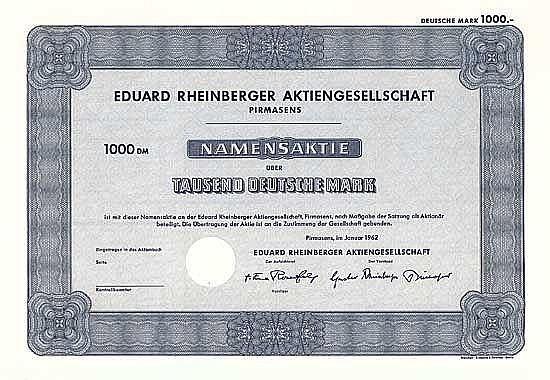 Eduard Rheinberger AG