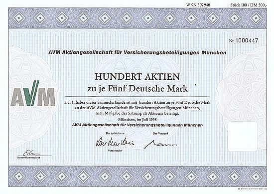 AVM AG für Versicherungsbeteiligungen